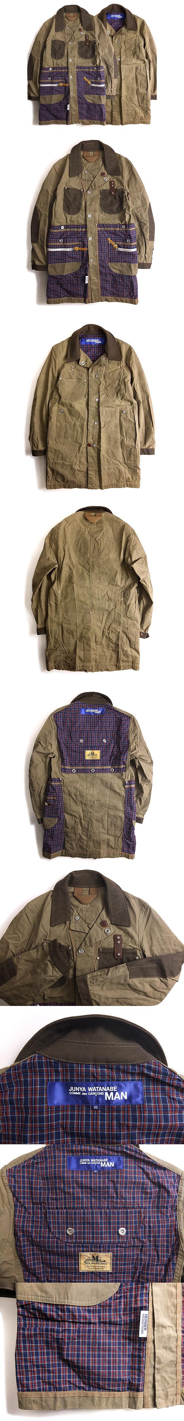 × サイルマーシャル Seil Marschall × エルヴィエ HERVIER 14SS ステンカラー コート Cotton Weather Paraffin Reversible Coat リバーシブル XS オリーブ カーキ 春秋