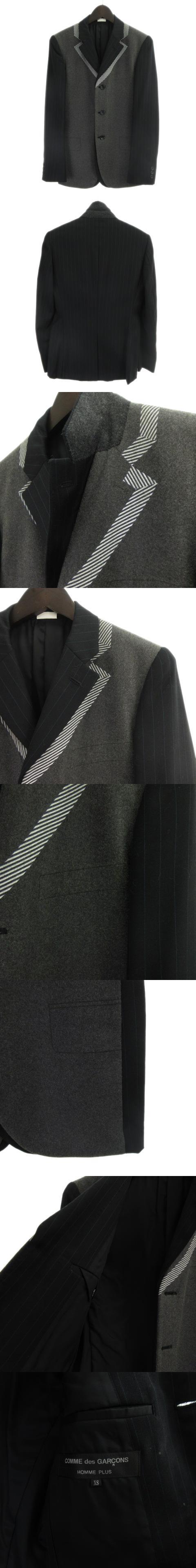 09AW Fashon Illusion期 テーラードジャケット 切替 フェイクレイヤード AD2009 ウール マルチカラー XS