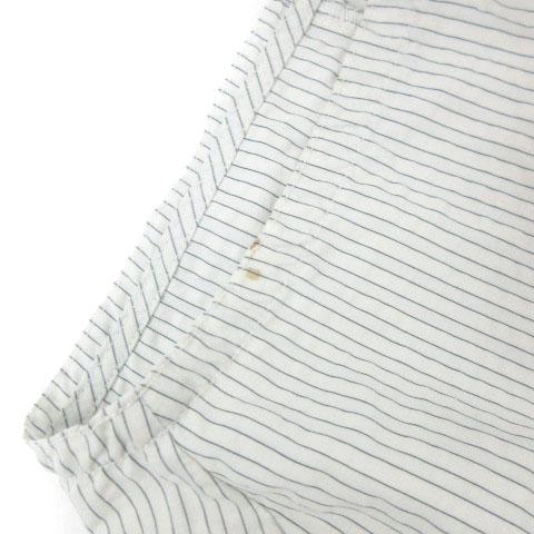 ハレ HARE セットアップ シャツ ジャケット 半袖 ハーフ パンツ ショート ストライプ HA030159TR 白 ホワイト S メンズ