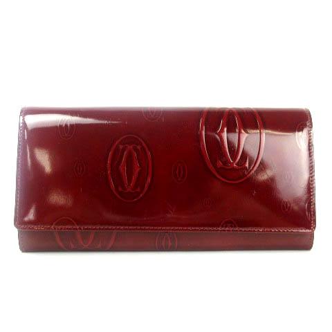buy popular 90c83 f64c7 カルティエ Cartier ハッピーバースデー 長財布 二つ折り レザー ボルドー レディース