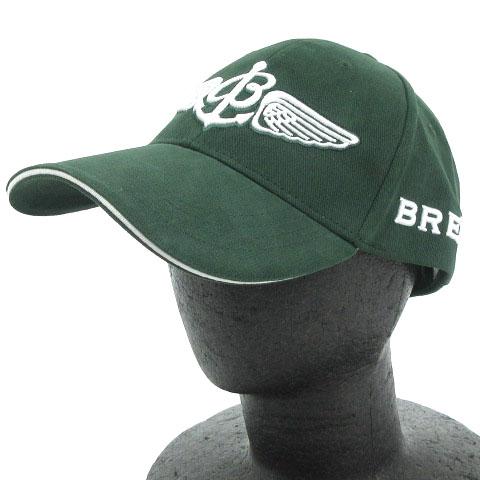 best sneakers 60c5b c4b9e ブライトリング BREITLING 非売品 ノベルティ キャップ 帽子 ロゴ 刺繍 コットン 布製 メンズ 緑 モスグリーン F ☆AA★