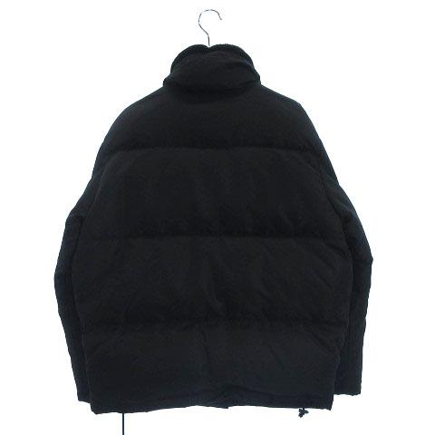 low priced 42910 5b5a0 グッチ GUCCI ダウンジャケット ブルゾン ファー襟 リブ袖 ナイロン 黒 ブラック アウター ◆ メンズ