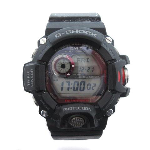 7c5d7bc2b7 カシオジーショック CASIO G-SHOCK Master of G RANGEMAN レンジマン 腕時計 電波ソーラー デジタル GW-9400J-1JF  黒 メンズ
