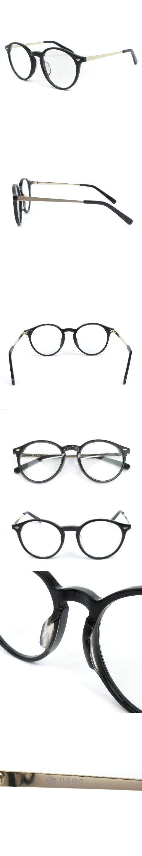 ボストン 伊達メガネ 眼鏡 セルフレーム 黒 ブラック HAND MADE