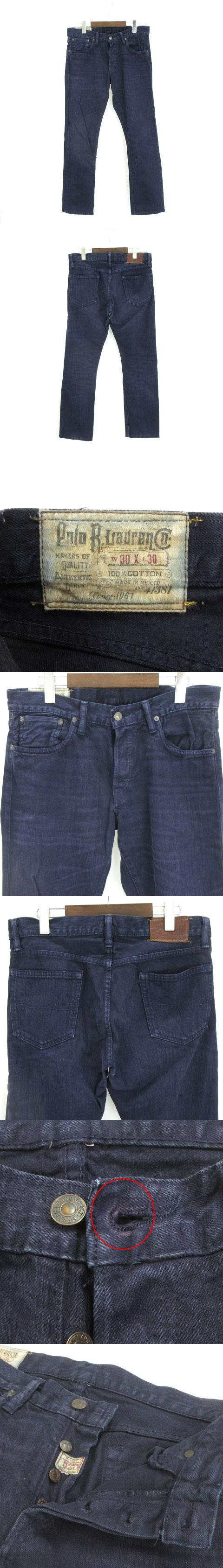 VARICK SLIM 625 カラー デニム パンツ ストレート ネイビー 紺 W30 L30