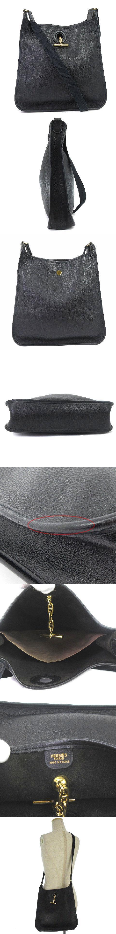 ヴェスパPM ショルダーバッグ トゴ □C 刻印 レザー 黒 ブラック 鞄 ☆AA★