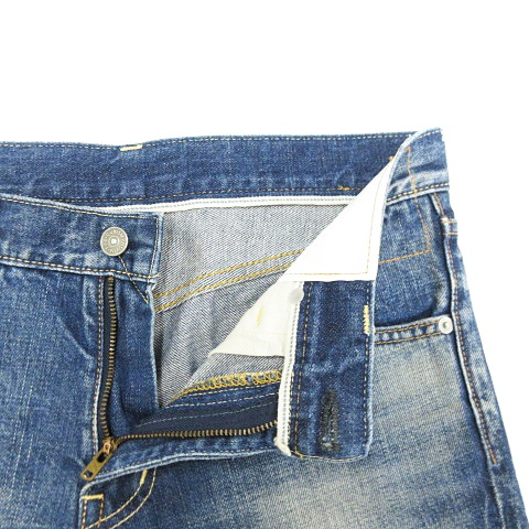 ビズビム VISVIM SOCIAL SCULPTURE 04 DAMAGED-5 ジーンズ デニム パンツ ダメージ加工 ジッパーフライ コットン インディゴブルー W30 L30 メンズ