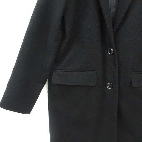 ダブルクローゼット w closet コート チェスターコート ロング 黒 ブラック F 180215 アウター レディース