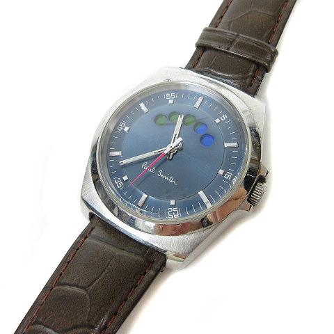 low priced 3ea3b 28b3c ポールスミス PAUL SMITH 腕時計 ウォッチ W.R.10BAR レザーベルト 3針 ブラウン ※Y メンズ