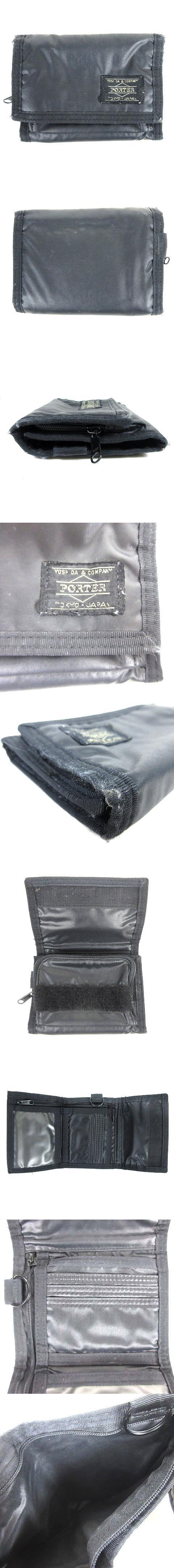 財布 三つ折り ウォレット ナイロン 黒 ブラック
