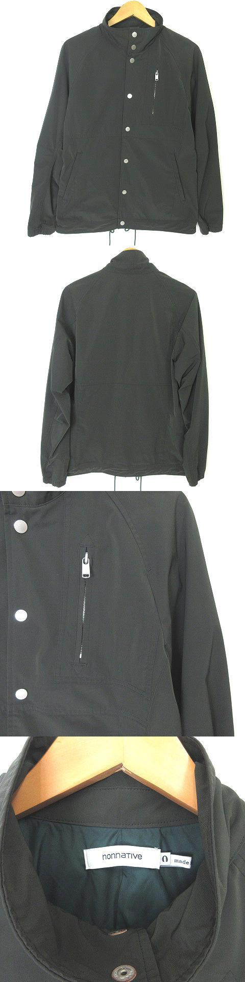 COACH JACKET POLY TWILL STRETCH DICROSR SOLO NN-J3117 コーチジャケット カーキ 0