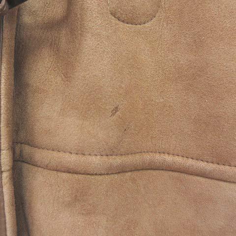 チンクアンタ Cinquanta シープスキン ムートンダッフルコート フーディ ボア ベージュ 52 IBS57 メンズ