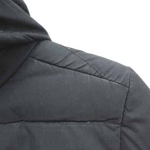 シンプリシテェ SIMPLICITE ダウンコート フード付き ロング 襟裏ボア ブラック 黒 M ■VG レディース