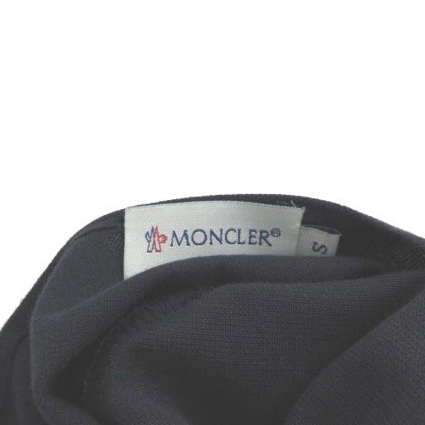 モンクレール MONCLER ロングワンピース ホルター 背空き 半袖 ネイビー 紺 S レディース