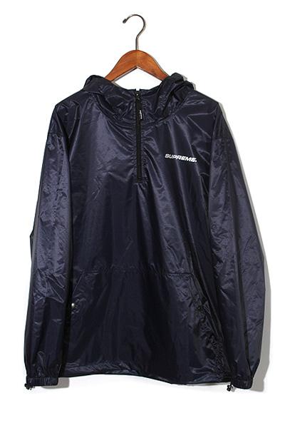 未使用品 2017AW Supreme シュプリーム Packable Ripstop Pullover ポーチ付き パッカブル ナイロンパーカー ジャケット L NAVY/● メンズ