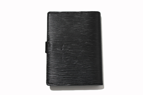 未使用品 LOUIS VUITTON ルイヴィトン R20052 エピ アジェンダPM 手帳カバー ノワール 2018年製 /◆ メンズ