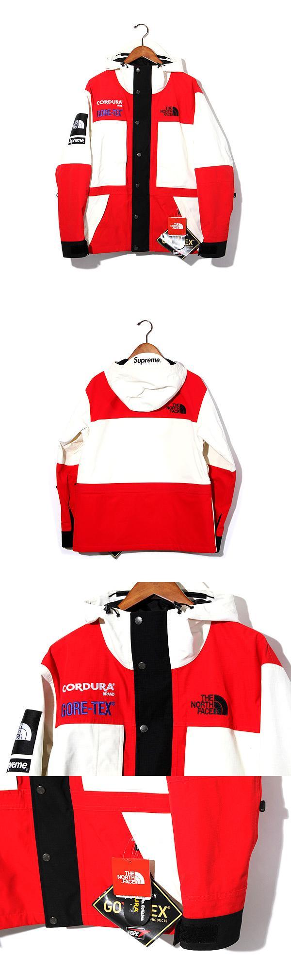 未使用品 2018AW SUPREME × THE NORTH FACE シュプリーム ノースフェイス Expedition Jacket エクスペディション ジャケット Mサイズ White 白/●