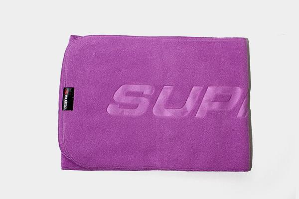 未使用品 2019AW SUPREME シュプリーム Polartec Scarf ポーラテックスカーフ ロゴ フリースマフラー Purple