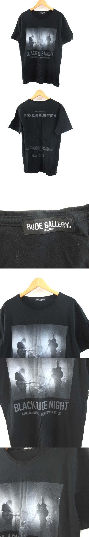 カットソー Tシャツ 半袖 プリント コットン 黒 ブラック M ■CA 0407