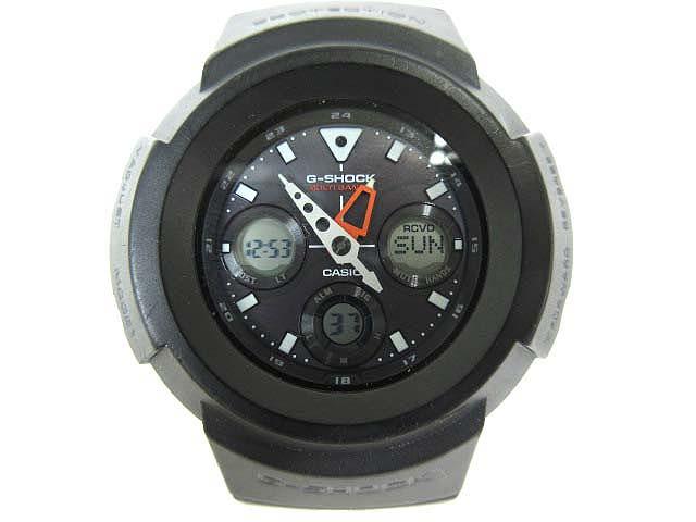 カシオジーショック CASIO G-SHOCK  AWG-M510 アナデジ タフソーラー 世界6局MULTI BAND 20気圧防水 黒 メンズ レディース