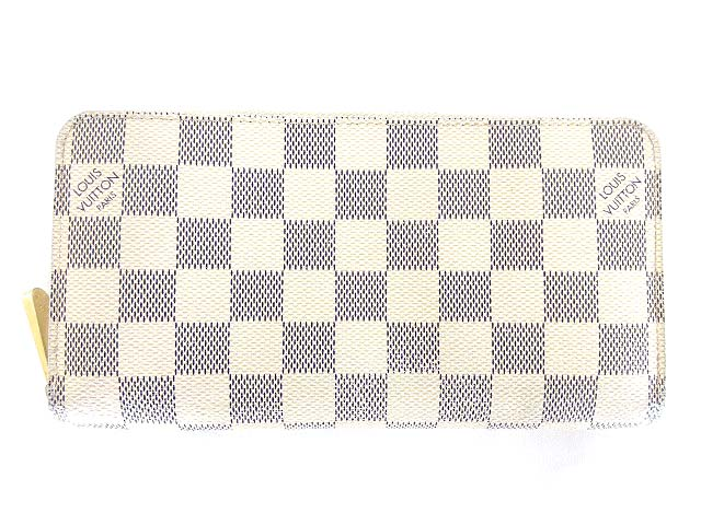 hot sale online e774f 49a0d ルイヴィトン LOUIS VUITTON ダミエ アズール ジッピーウォレット 長財布 N60019 白 0704