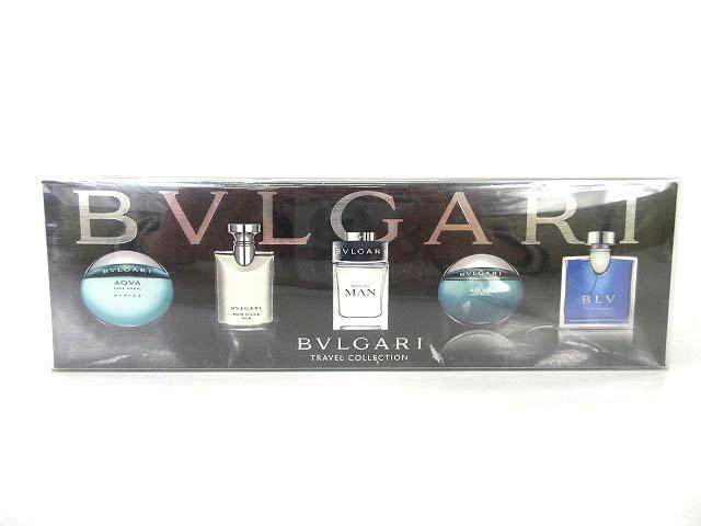 lowest price 0c24a 7fc34 ブルガリ BVLGARI トラベルコレクション ミニ 香水 5ml 5点セット 0111 メンズ