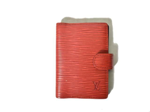 new product 8a9a3 665df ルイヴィトン LOUIS VUITTON 手帳カバー アジェンダ ミニ エピ レッド R20077 180126R レディース