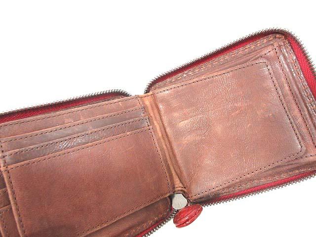 fa48d7934dcf ... ノマドイ NOMADOI 財布 2つ折り コインケース レザー ボルドー レディース