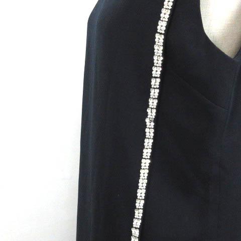 0e97bfbd66d1d ... ガール Girl ワンピース ドレス フォーマル ビジュー装飾 ノースリーブ ネイビー XL 2287-E レディース