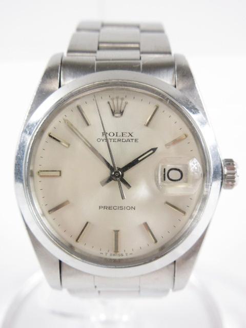 274c453e7f ロレックス ROLEX オイスターデイト プレシジョン 腕時計 ウォッチ 手巻き ステンレスバンド シルバー 6694 OYSTERDATE  PRECISION/☆I97 メンズ