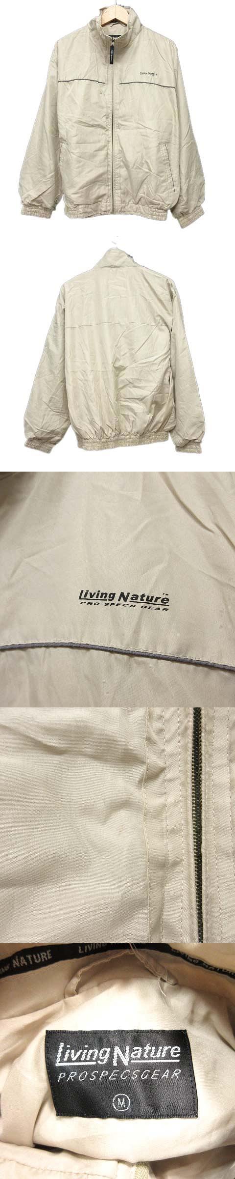 リビングネイチャー Living Nature マウンテンパーカー ジャケット ジップアップ M ライトベージュ/31●8