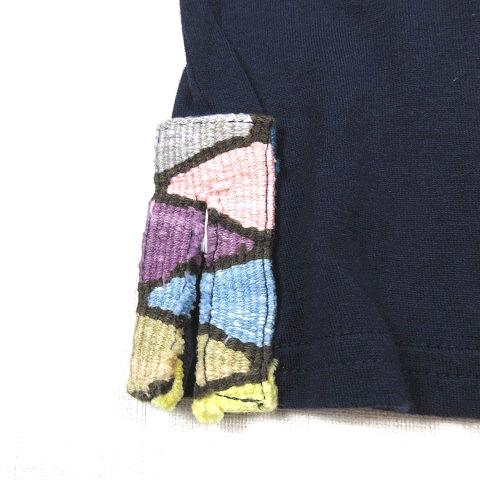 ビズビム VISVIM 14SS MAYAN HENLEY NECK S/S マヤ ヘンリーネック ショートスリーブ Tシャツ 半袖 カットソー 3 ネイビー 紺 0114305010002/i12 メンズ