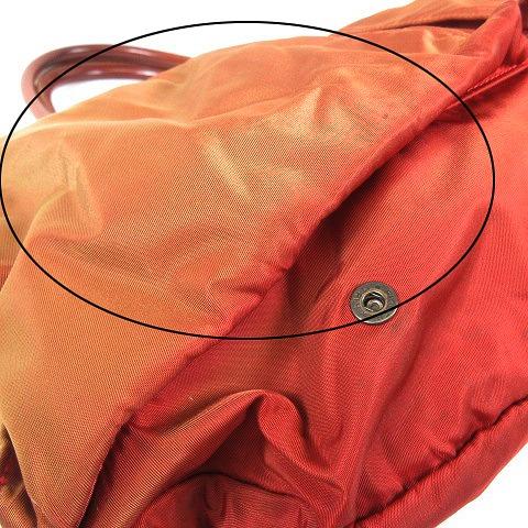 フェリージ Felisi 9236 ヘルメットバッグ ナイロン×レザー トート ブリーフケース ビジネスバッグ A4 書類カバン オレンジ/☆I24 メンズ レディース