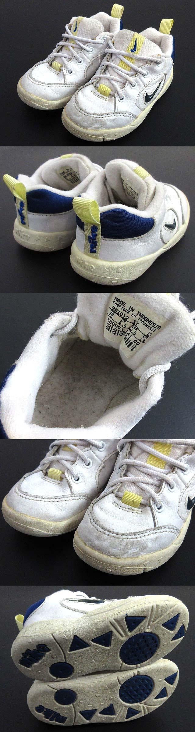 スニーカー レザー ロゴマーク 白 ホワイト 13cm 子供靴