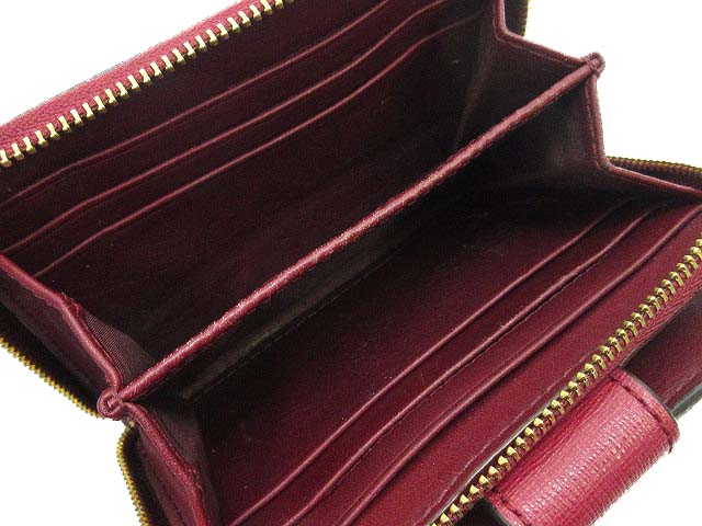 purchase cheap 3809f 73c26 コーチ COACH 二つ折り 財布 レザー ラウンドファスナー 小銭入れ ワインレッド レディース
