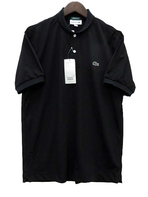 7bc1266bf7f4 未使用品 ラコステ LACOSTE ビームス BEAMS GOLF 別注 ポロシャツ ショールカラー クールマックス 黒 ブラック 4 ゴルフ メンズ