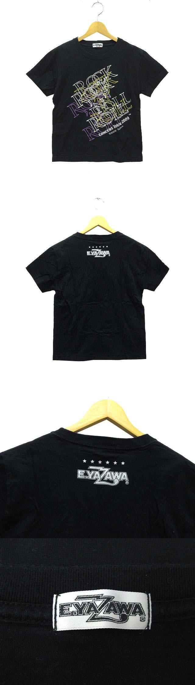 矢沢永吉 E.YAZAWA ライブ Tシャツ 半袖 コンサート ツアー 2009 ROCK'N'ROLL ブラック 黒