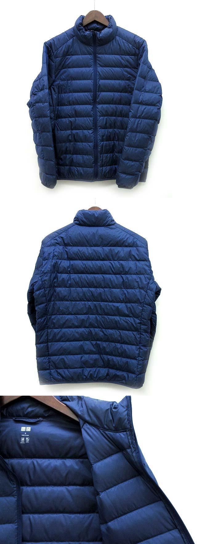 ウルトラライト ダウン ジャケット ジップアップ ネイビー 紺 S