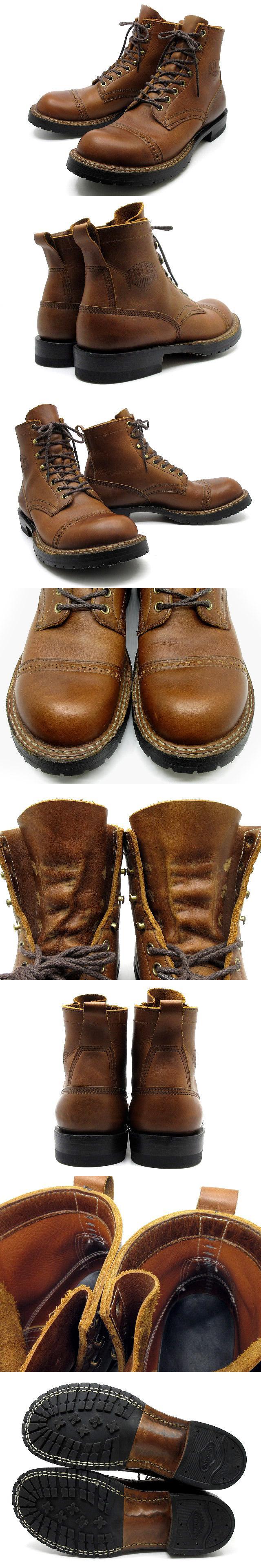 スモークジャンパー 6インチ ブーツ ドレストゥキャップ レザー ブラウン 8.5E 約26.5cm 美品