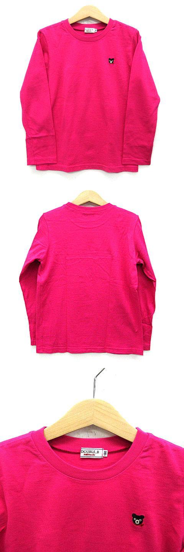 Tシャツ ロンT 長袖 クルーネック くまのプッチー 刺繍 ピンク 130 美品