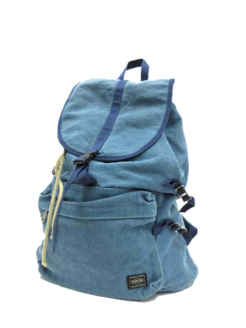 1170e7c8ddf9 ビージルシ ヨシダ B印 YOSHIDA(BEAMS×PORTER) フェニカ fennica Hill Pack デイパック バックパック バッグ  リュック コットンリネンキャンバス ブルー ...