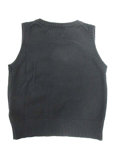 コムサイズム COMME CA ISM ベスト ニット プルオーバー Vネック ベビー 90cm ブラック 黒 170904