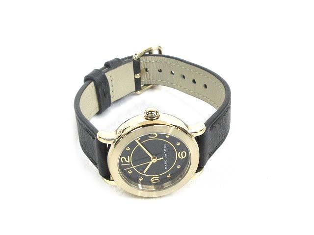 マークジェイコブス MARC JACOBS 腕時計 ウォッチ MJ1475 ライリー RILEY クォーツ ブラック × ゴールド 170910 レディース