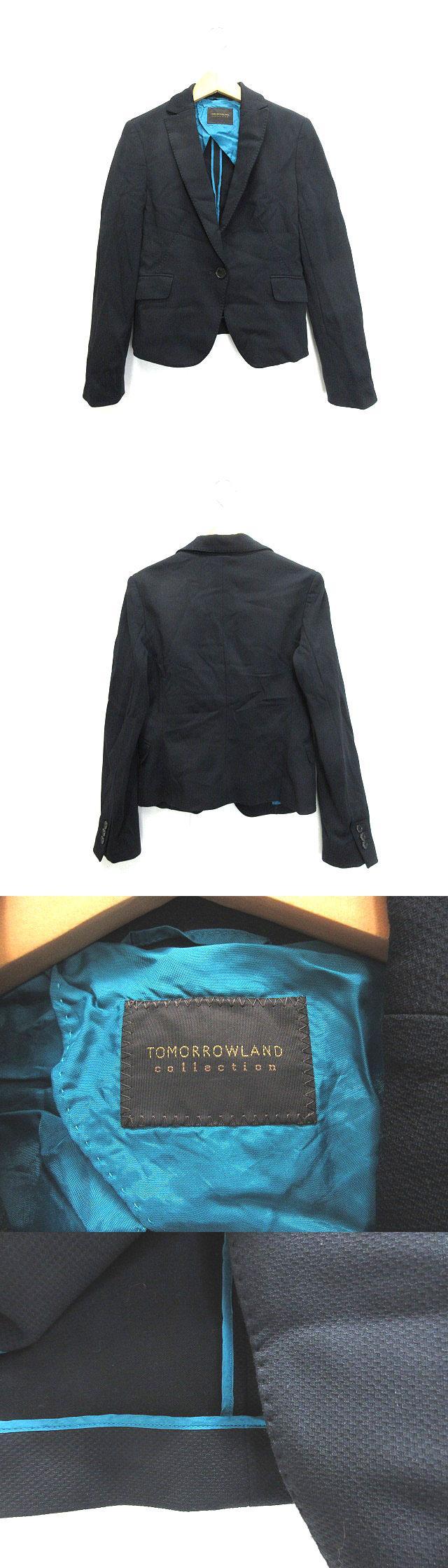ジャケット テーラード ストレッチ 38 ネイビー系 紺系 180912E ■CA