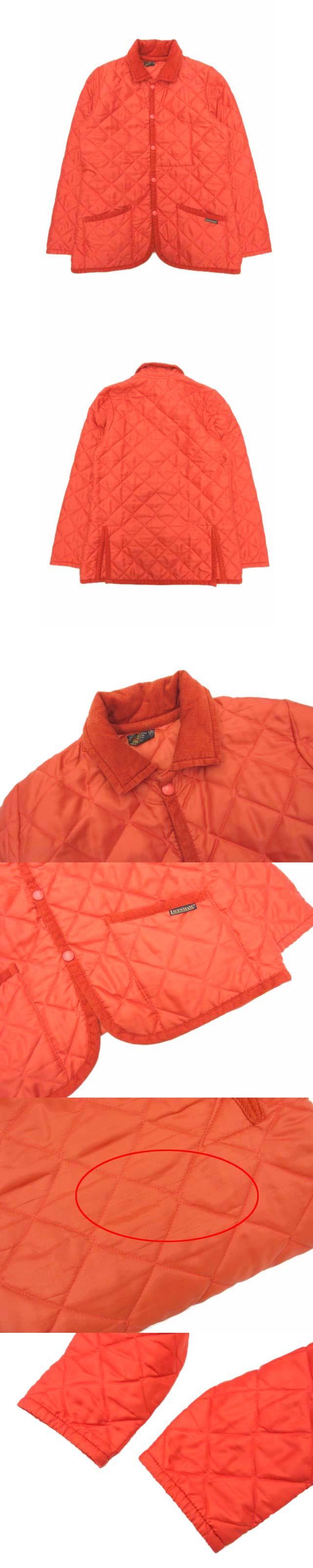 キルティングジャケット コート ブルゾン 中綿 パイピング 38 オレンジ WA-AW04 190714