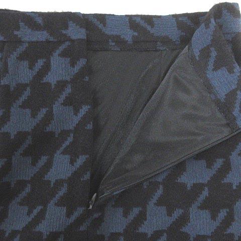ミリオンカラッツ Million Carats スカート ミニ丈 千鳥格子柄 ブラック × ネイビー S 191108E レディース