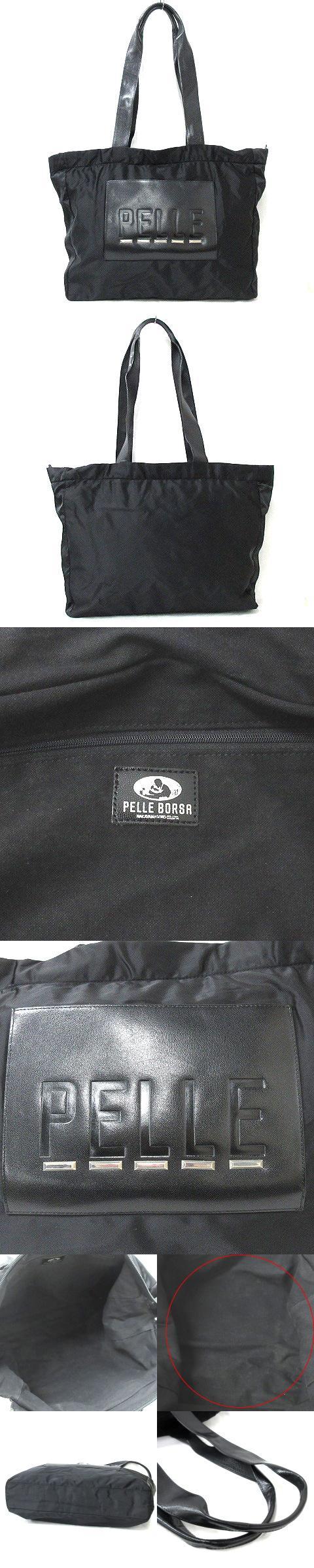 PELLE BORSA ペレボルサ ショルダーバッグ トート ブラック 200110O