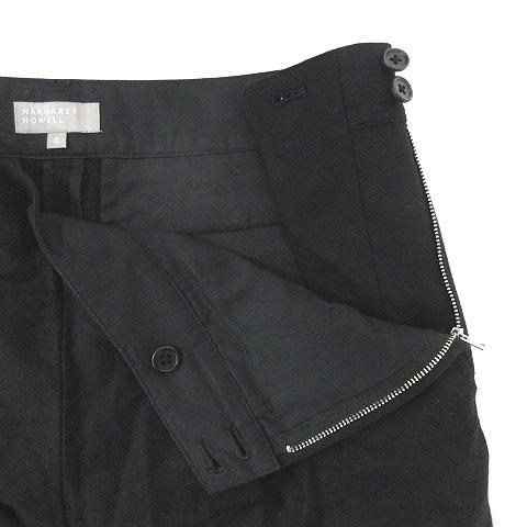 マーガレットハウエル MARGARET HOWELL パンツ ウール 2 ブラック 200807E ※VGP レディース