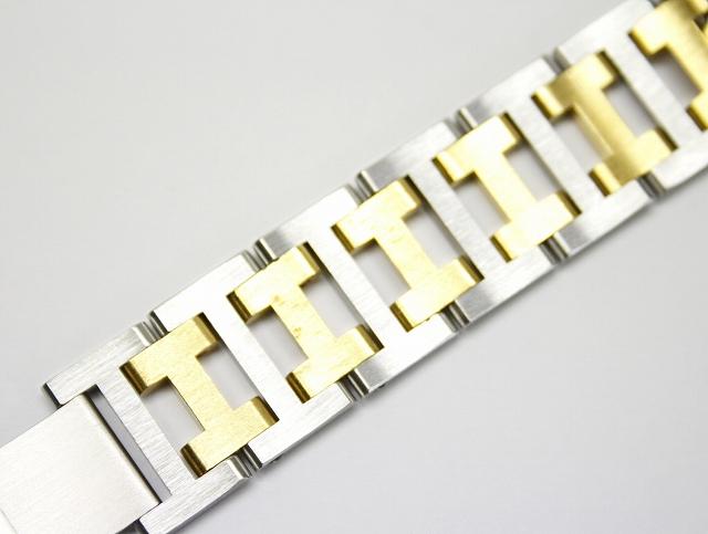 エルメス HERMES アルソー 腕時計 クォーツ SS/GP コンビカラー Hベルト メンズ