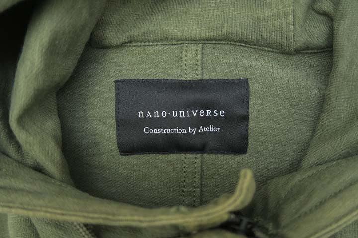 ナノユニバース nano universe コットン ミリタリー モッズコート L
